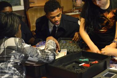 "Teens learn to build, repair and maintain donated electronics at the ""Audio Electronics"" program."