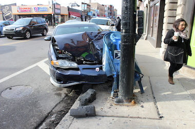 A driver who fell asleep at the wheel crashed into a bus and mailbox at the busy intersection of Clark and Belmont — and then the responding ambulance got into an accident, too.