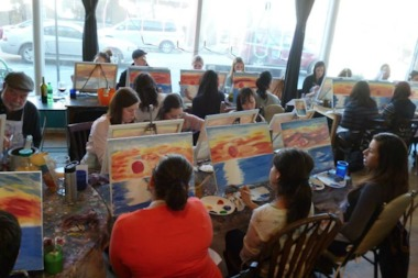Bottle and Bottega hosts BYOB painting parties.