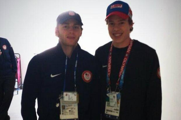 Olympian Brian Hansen has gotten photographs with all 10 Chicago Blackhawks playing in the men's hockey competition.