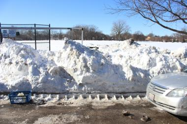 Snow drifts on Campbell Avenue have been especially bad this year, neighbors said.