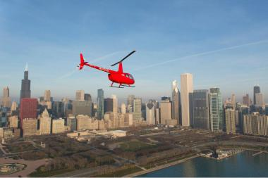 The Chicago Helicopter Express tour company is looking to move its operations to the south branch of the Chicago River.