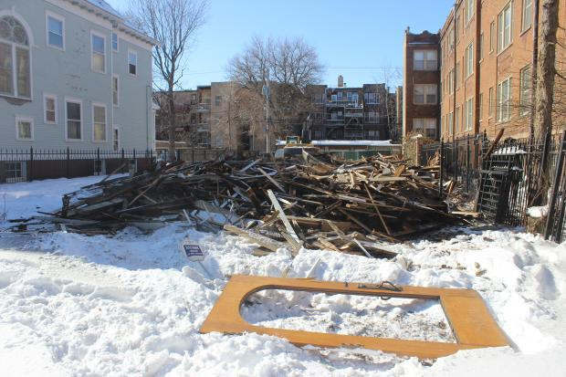 A 117-year-old Victorian home at 4642 N. Magnolia Ave. in Sheridan Park was torn down Monday.