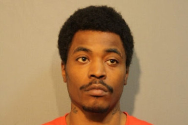 Eric Carney, 22, was charged with felony robbery after stealing a woman's cell phone on the Blue Line, police said.