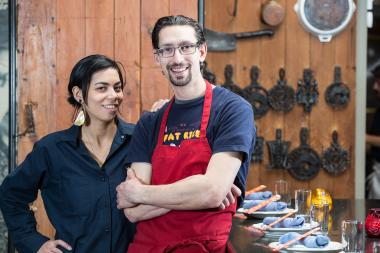 Fat Rice Chefs Adrienne Lo (l.) and Abraham Conlon were selected as semifinalists for the 2014 James Beard awards.
