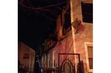 Three women were injured when a gas explosion ripped apart a home in the 1300 block of West Cullerton Avenue.