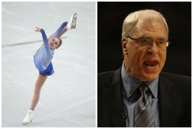 U.S. Olympic figure skater Gracie Gold said she has been reading former Bulls coach Phil Jackson's writings to help calm her nerves and enjoy her skating.