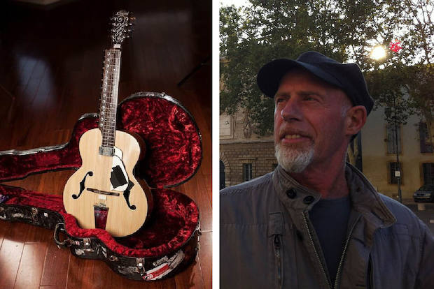 Blues musician Harry Manx said on Friday his rare guitar was stolen from Chicago O'Hare International Airport.