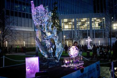 A new winter festival in Boystown will feature an ice sculptor, who will use a chainsaw to craft sculptures such as this.