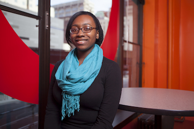 Kaylah Harrington, a 16-year-old junior at Lindblom Math & Science Academy, is an aspiring movie critic.