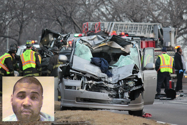Terrell Garrett, a North Chicago police officer, was allegedly drunk when prosecutors say he drove the wrong way on Lake Shore Drive in 2013, crashing into a Jeep and killing Fabian Torres and Joaquin Garcia.