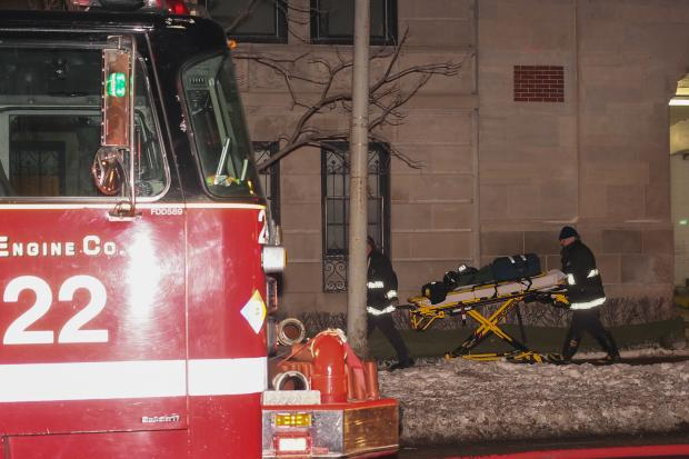 Firefighters were called to a high-rise fire in the 3200 block of North Lake Shore Drive after 10 p.m., according to a Chicago Fire Department spokesman.