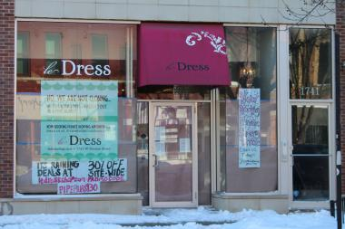 Le Dress is closed after a pipe burst, but you can still shop across the street, at a weekend long pop-up sale inside of Trillium, 1744 W. Division St.