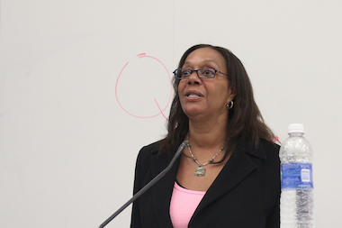 Ald. Leslie Hairston is calling for better signs near speed cameras after being nabbed a couple of times herself.