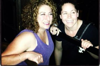 Florist Lisa Paul (l.) and her friend and client Stephanie Izard, chef/owner of Girl & the Goat and Little Goat