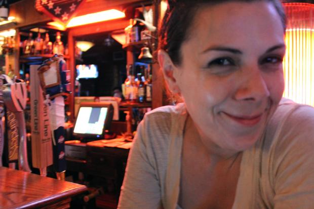 Bartending photographer Liz Salas captures funny shots during Wing Night at Wild Goose in Lincoln Square.