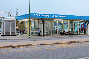The Logan Square Blue Line Station, 2634 N. Milwaukee Ave.