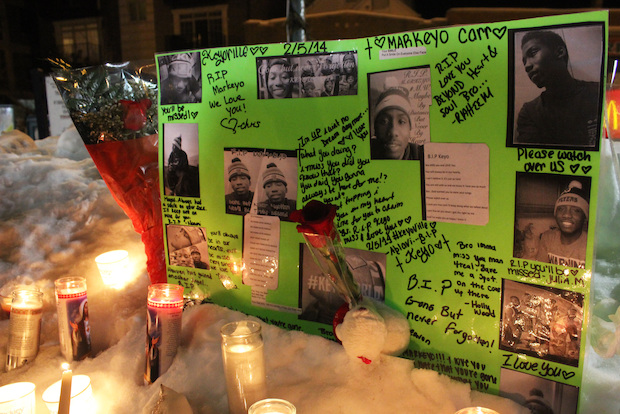 Relatives, friends and supporters of Markeyo Carr's family pleaded Tuesday night for the end to Chicago street violence.