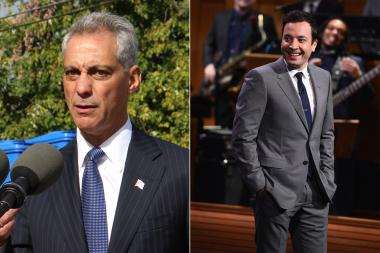 "Mayor Rahm Emanuel accepted Jimmy Fallon's open invitation to appear on ""The Tonight Show,"" if Fallon participated in Sunday's Polar Plunge."