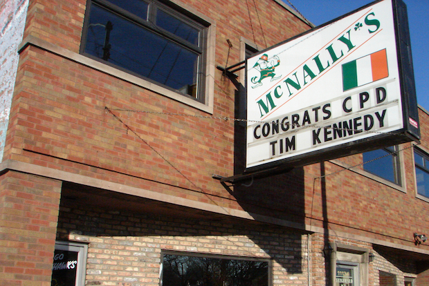 "A musician is claiming the owner of McNally's bar cut short his band's performance Saturday night after he said ""there are too many black people in here."""