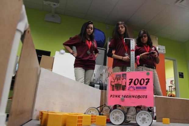 A girl-powered team looks to dominate an upcoming statewide robotics competition.