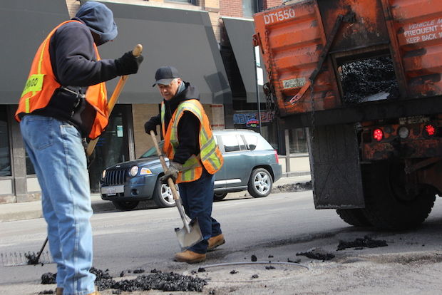 City officials announced the department of transportation is bringing seasonal crews back about a month early to combat this year's unusally bad pothole season.