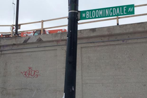 A man was accused by cops of tagging buildings on North Milwaukee Avenue in Bucktown and a Bloomingdale Trail viaduct Thursday. On Friday, some of the red tags, which begin in the 1700 block of North Milwaukee Avenue in Wicker Park, were still fresh.