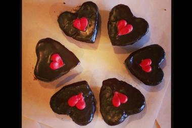 Scafuri Bakery, 1337 W. Taylor St., has a mini heart-shaped red velvet cakes for your love (or your bestie).