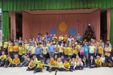 Ukrainian students at Christopher Columbus Elementary attended a December rally to support Ukraine.