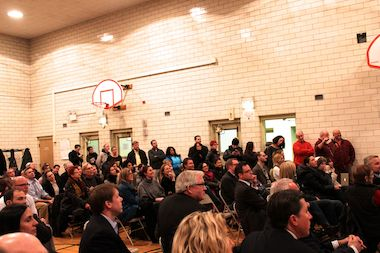 More than 120 people asked questions at a community meeting to discuss a proposed Trader Joe's at 1811-25 W. Division St. in Wicker Park.