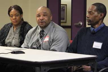 "The CTA's Alphonso Johnson (center) said, ""I went from a Link card to a debit card."""