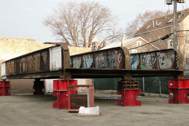 A section of the bridge at Ashland and Bloomingdale avenues was removed during the weekend.