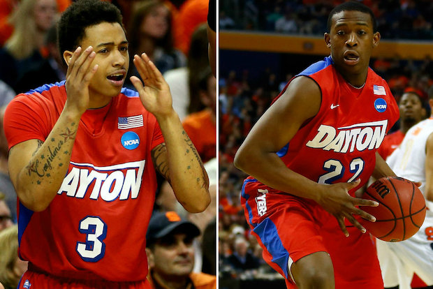 Dayton men's basketball players Kendall Pollard and Kyle Davis hail from Chicago. The Flyers are in the Sweet 16, where they'll face Stanford.