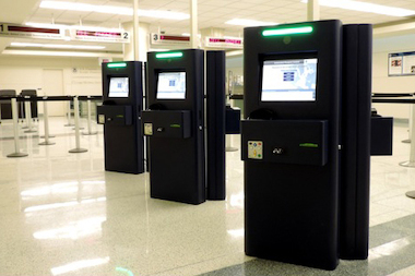 Aviation officials said the kiosks should reduce wait times for American and Canadian travelers.