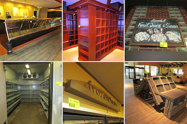 Equipment from four of the city's shuttered Dominick's grocery stores has been put up for auction by Grafe Auction Co.