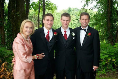The Tormey family (from left) Carol, Clay, Griffin and Mark.