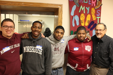 A group of students from Morehouse College in Atlanta chose to spend their spring break volunteering in Chicago, from Monday till Friday, rather than going somewhere warm.