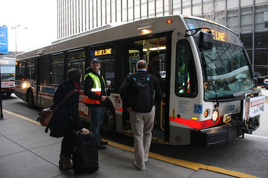 Police say a man boarded a CTA bus Saturday with an ax, and swung at the driver. No one was hurt. (File photo. )