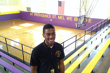 Bernard Lilly Jr., a senior at Providence St. Mel School, is a standout basketball player, singer and musical performer. He also is the senior class president and president of the school's choir.
