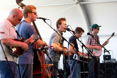 Bluegrass band The Infamous Stringdusters plays in Chicago on Wednesday.