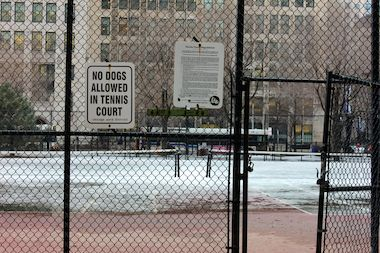 The tennis court will be locked for the rest of the winter and every winter moving forward after area residents raised concerns about dogs scratching up the court's surface and leaving waste.