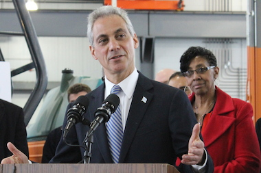 Mayor Rahm Emanuel said it's still early in the year as speed cameras race to meet their budgeted amount of revenue. Budget Committee Chairman Carrie Austin (r.) likewise was unfazed.