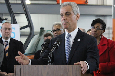 Mayor Rahm Emanuel said almost a quarter of the city's 4,600 miles of streets will have been repaved under his administration.