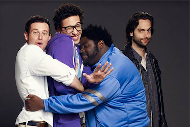 "Four of the stars of the upcoming NBC show ""Undateable"" — Brent Morin (l.), Rick Glassman, Ron Funches and Chris d'Elia — will perform stand-up comedy at Up Comedy Club Monday."