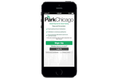 The city said its new mobile app for parking, anticipated to debut this spring, will look something like this.