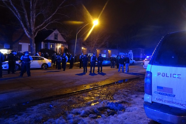 A Chicago Police officer was shot Sunday night while executing a drug warrant in the 2700 block of East 92nd Street.