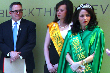 After 10 years of trying, Lauren Catinella, 26, was crowned the 2014 St. Patrick's Day Parade Queen.