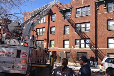 A child died in a fire at a Rogers Park apartment building Wednesday afternoon, officials said. The fire occurred in a four-story apartment building in the 1700 block of West Juneway Terrace.