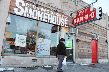 Rub's Backcountry Smokehouse was shuttered by the city after inspectors found rat droppings inside, its owner said.