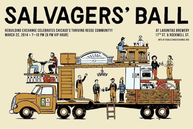 The fifth annual Salvagers' Ball will be held in the not-yet-open Lagunitas Brewery in Pilsen Saturday.